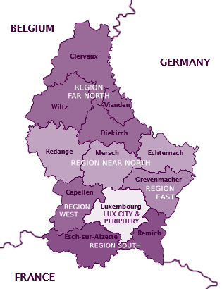 Luxembourg Zone Map