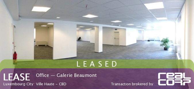 RealCorp Luxembourg — LEASED: Office — Galerie Grand-Rue Beaumont, Luxembourg City: Ville Haute - CBD
