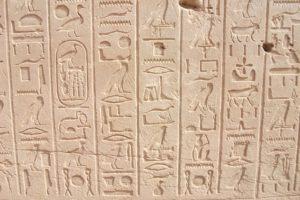 Hieroglyphics on pinkish stone appeared very early in humanity's journey toward Transliteracy