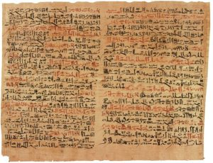 Papyrus with red and black hieroglyphics - is this good writing?
